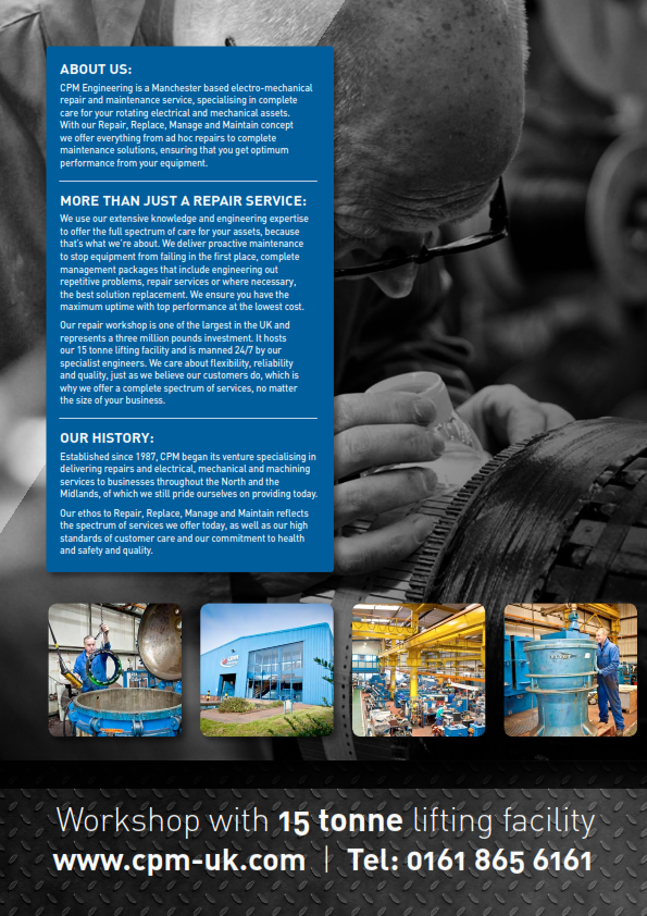 CPM electro-mechanical repair and maintenance engineering services