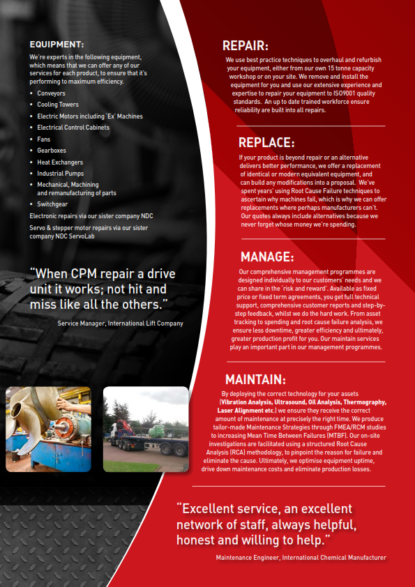 Engineering Services Brochure Cpm Engineering