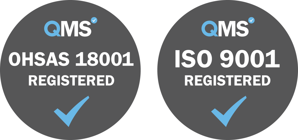 OHSAS 18001 and ISO 9001 badges